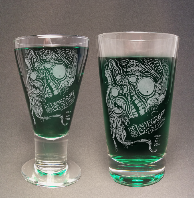 Mock up of goblet and pint glass --- Art by Michael Bukowski