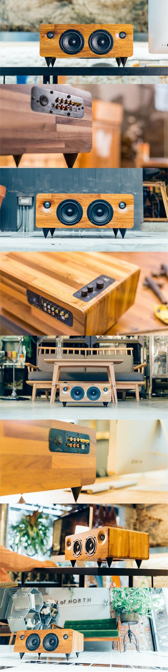 MIN7 : The Multi-function Handmade Wooden Speaker by Minfort