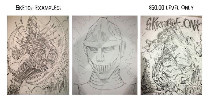 Sketch reward examples