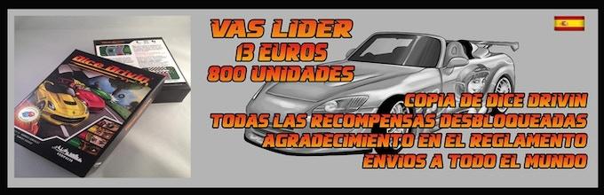 Gastos de envio 4€, se cobrarán al finalizar la campaña // // Dice Drivin´ tendrá un precio en tiendas de 20€