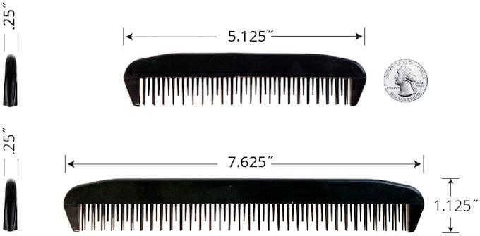 traveler comb (top)  wrangle comb (bottom) - pat. pend.