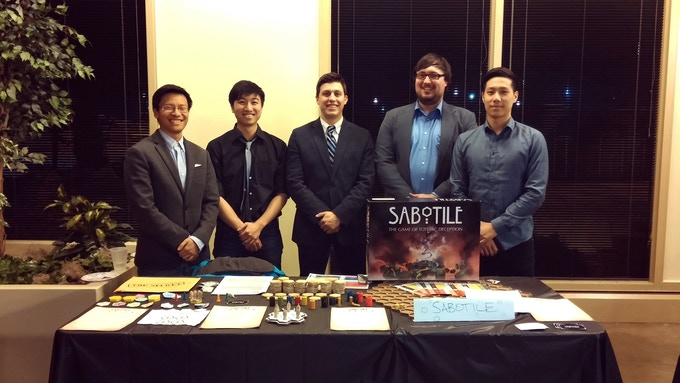 The creators of Sabotile: Isles of Hexoté (and later the Grizzly Forged Studios team) at the CUDO Plays Grand Exhibition last year! Pictured from left to right: Ben, Ervin, Alex, Mark, Sehoon