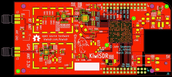 Gerber view of some of the PCB layers (click for larger)