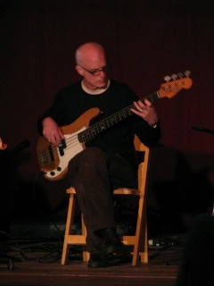 solo bass performance at Bard College's New Albion festival