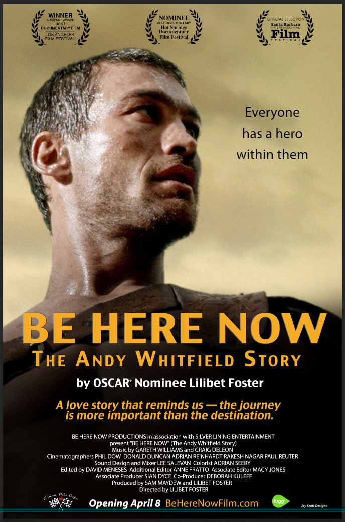 OPENING IN THE US APRIL 8TH!  For more info & to reserve tickets visit: http://www.beherenowfilm.com/ Inspiring documentary about Andy Whitfield who put the same dedication he brought to his lead role in SPARTACUS, into fighting cancer.