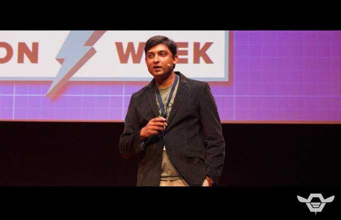 Tech Celebrity, Anjan Contractor, CEO of BeeHex, Inc. speaking in Rome.