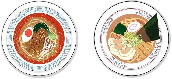 Tantanmen & Tokyo Ramen 1.5-inch stickers