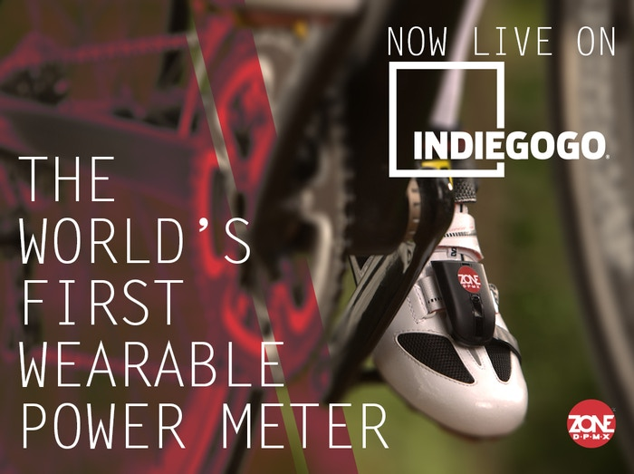 Zone DPMX™ is the first wearable power meter for cyclists. It's attached to your shoes, not to your bike. Easy to move between bikes!
