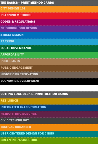 Which of these decks would you find most useful in print & which ones can be presented in the app? Tweet your preferences to @CityDesignCards.