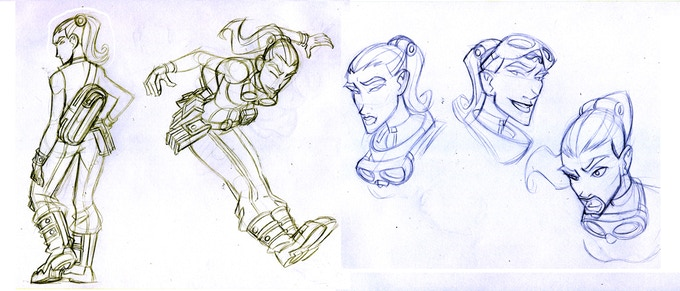 An original character sheet from Carlos Trigo