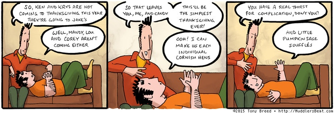 Finn and Charlie usually host a big Thanksgiving