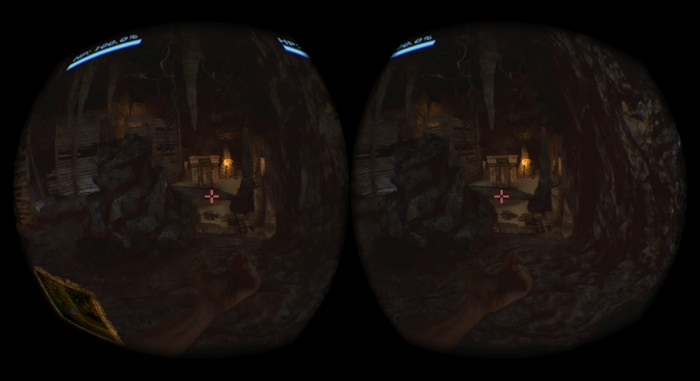 The solitude and darkness of the caves is experienced intensely in VR
