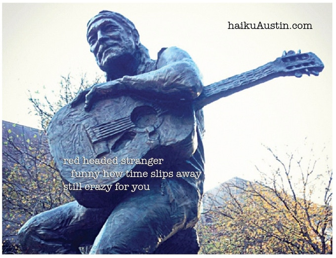 This statue stands in front of the Austin City Limits' Moody Theater on the appropriately named Willie Nelson Boulevard.