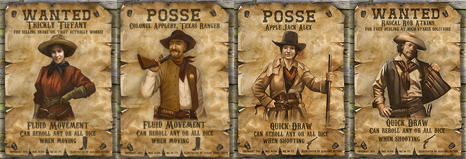 Posse and Wanted Character Cards