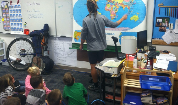 Classroom Visit in Chelan, WA