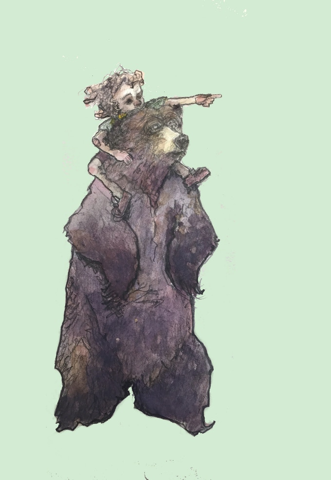 """My personal favorite page, """"Bear King."""""""