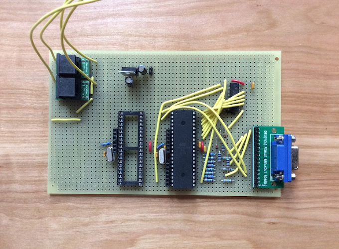first perfboard prototype