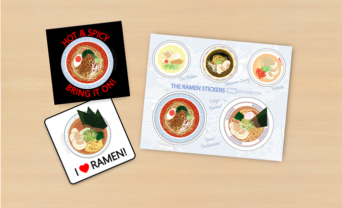 Ramen stickers and sticker sheet