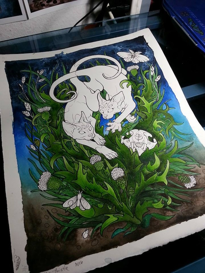 """""""In the Thistle"""" in progress"""