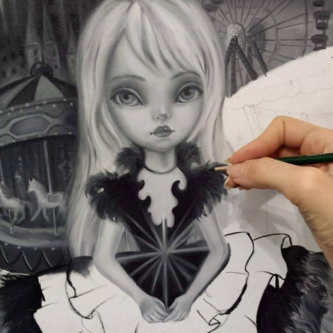 Simona Candini Working on her Star