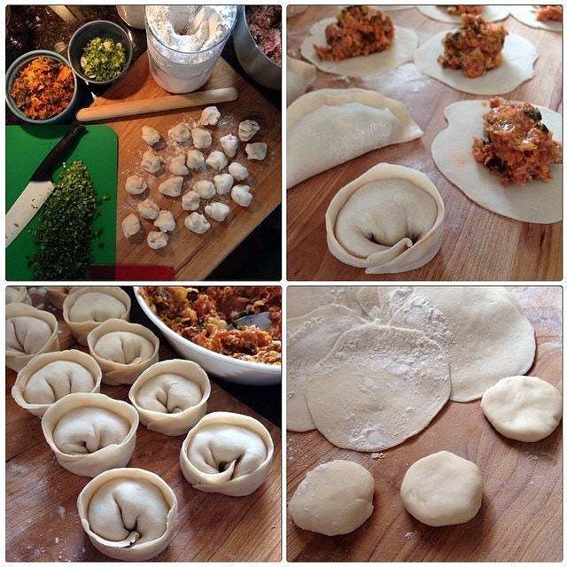 Handcrafted Pork and Kimchi Jjinmandu {Korean Steamed Dumpling}
