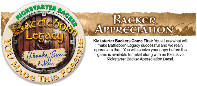 Kickstarter backers can stick their decal on the box cover or anywhere they like.