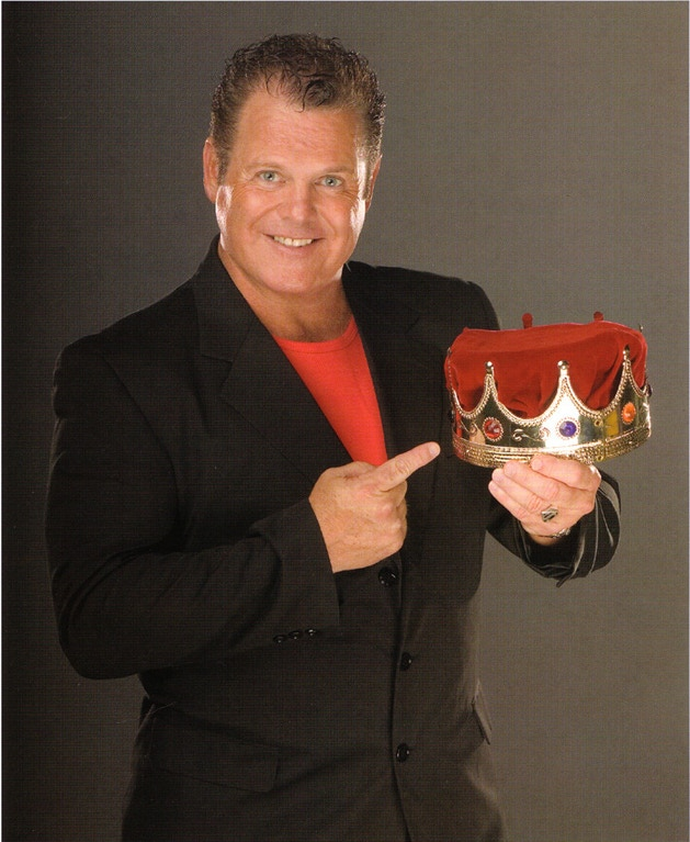 "WWE Hall of Famer and Headlocked cover artist, Jerry ""The King"" Lawler"