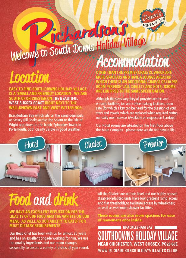 Accommodation and facilities at Southdowns Holiday Village