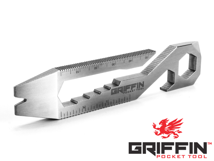 Featuring 15+ tools in one simple design, the Griffin Pocket Tool™ XL keeps you prepared for anything while you are on the go.