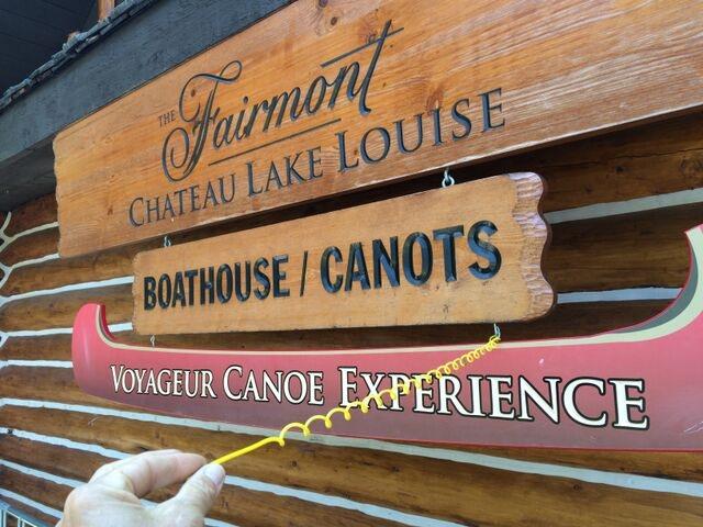 Slinging signs @ Lake Louise Canada