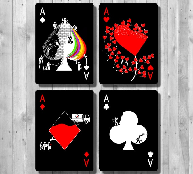 The Little Prince Inspired Quote 2nd Edition Art Print: Pipmen Playing Cards (SHADOW Edition) By Elephant Playing