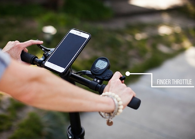 Connect your smartphone for GPS or music while you ride, just pull the finger throttle and go.