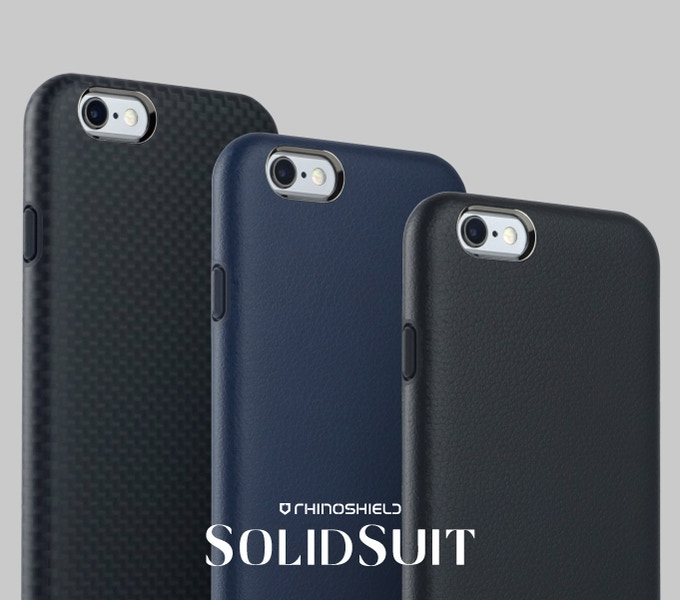 solidsuit leather finish impact protection case for iphone by evolutive labs kickstarter. Black Bedroom Furniture Sets. Home Design Ideas