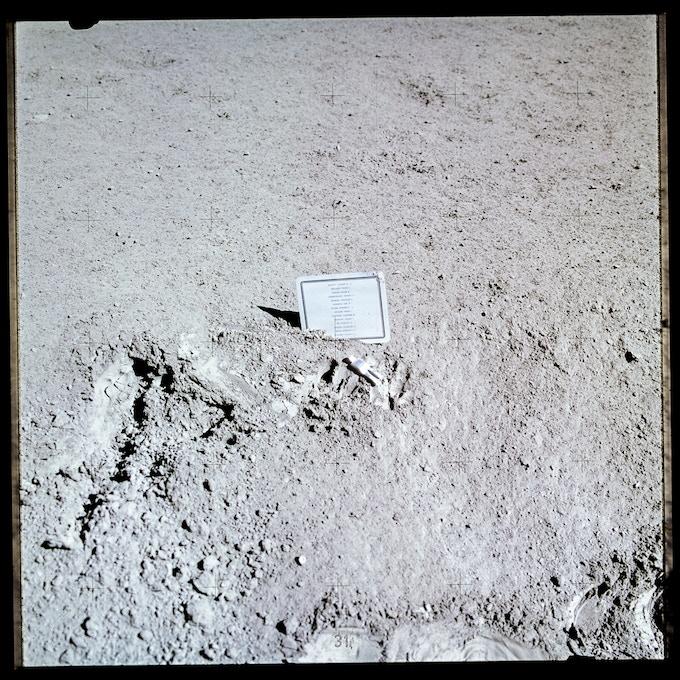 Fallen Astronaut – Photograph taken by David R. Scott (Apollo 15)