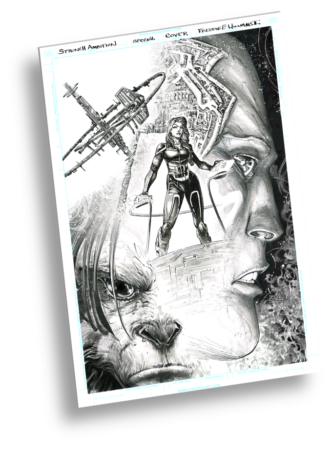 "The ""Original Cover"" of Issue #1 drawn by Freddie Williams II"