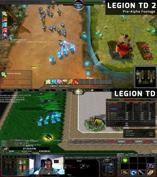 Legion TD 2 - Legion TD vs  Legion TD 2