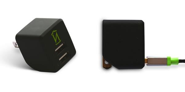 Option #1: Dual USB 2.4A/12W Compact AC Adapter