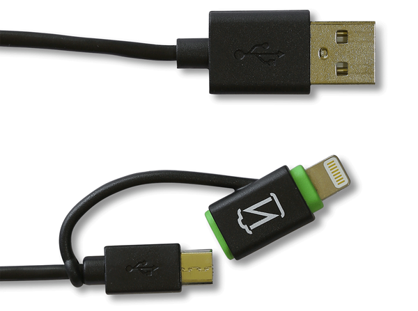 Option #3: 2-n-1 Micro USB & Lightning Cable (MFi Certified)
