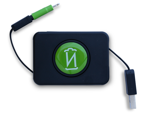 Option #4: Retractable Micro-USB cable with Lightning Adapter (MFi Certified)