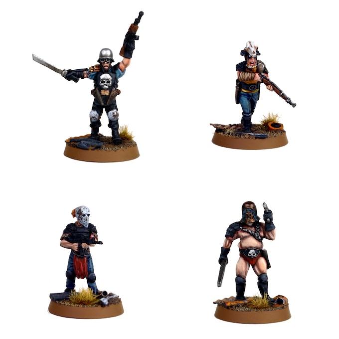 Painted master metals of the Wastelanders 1 pack