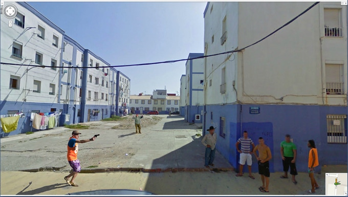 Trend of photography inspired by Google street