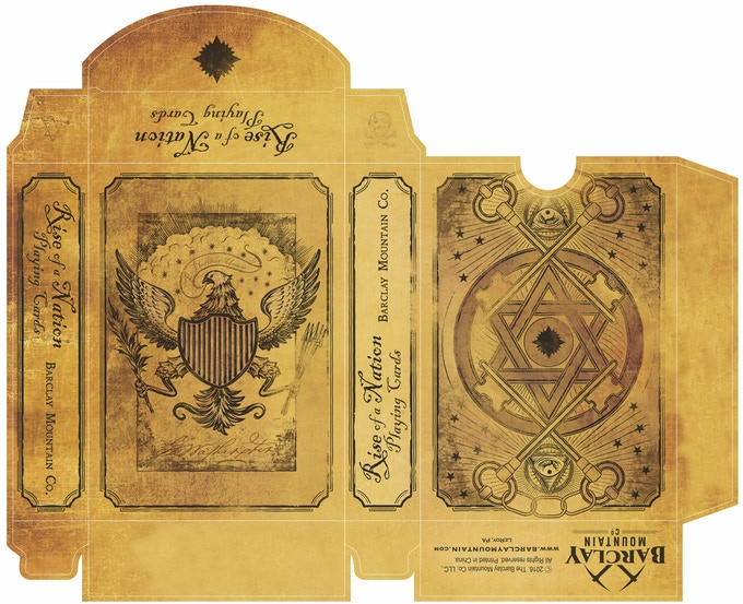 Rise Of A Nation Playing Cards By Barclay Mountain
