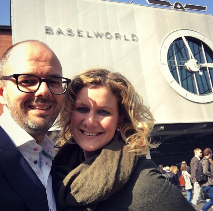 Eveline and Tom at Baselworld 2016
