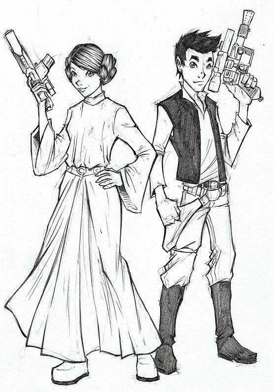 5 Seconds - Detailed Sketch - Star Wars