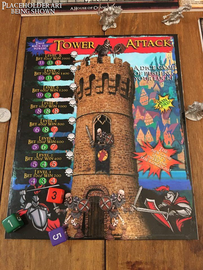 Tower Attack. This game will be included in the base and crusader edition of Dungeon Crusade.