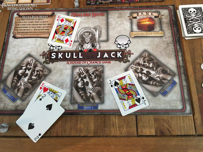 Skull Jack. This game will be a stretch goal that will unlock, and will be part of the crusader edition package.