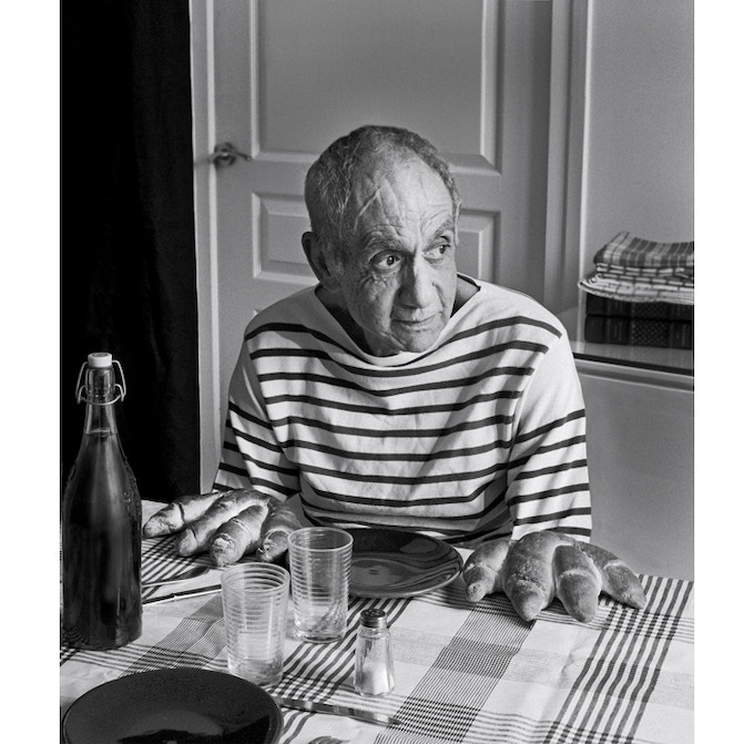 Tribute to Robert DOISNEAU, Picasso and the loaves,1952