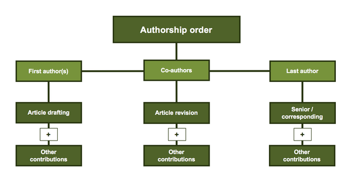 Figure 2 - Order of authors that may appear in a manuscript