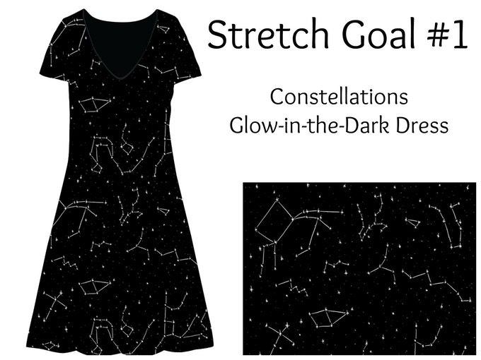 Constellation Glow-in-the-Dark Fit & Flare Dress