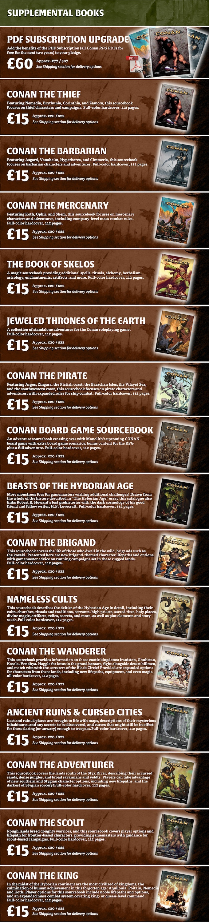 Participate :: Robert E  Howard's Conan Roleplaying Game by Modiphius